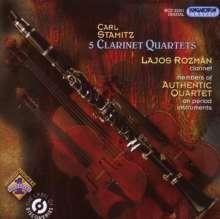 Carl Stamitz (1745-1801): Klarinettenquartette op.14 Nr.3 & 6;op.19 Nr.1-3, CD