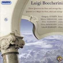 Luigi Boccherini (1743-1805): Quartette für Flöte & Streicher op.5 Nr.1-3 (G.260), CD