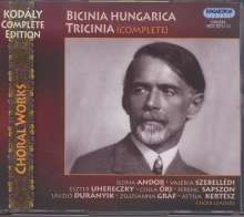 Zoltan Kodaly (1882-1967): Bicinia Hungarica Tricinia (komplett), 3 CDs