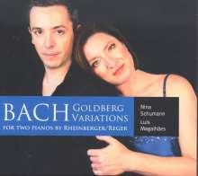 Johann Sebastian Bach (1685-1750): Goldberg-Variationen BWV 988 für 2 Klaviere, CD