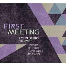 Lee Konitz, Dan Tepfer, Michael Janisch & Jeff Williams: First Meeting: Live in London Volume 1 (Deluxe Edition), 2 LPs