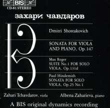 Dimitri Schostakowitsch (1906-1975): Sonate f.Viola & Klavier op.147, CD