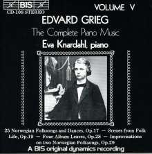 Edvard Grieg (1843-1907): Klavierwerke Vol.5, CD