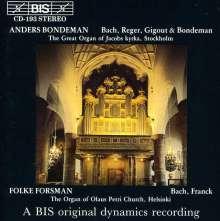 Anders Bondeman,Orgel, CD