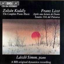 Zoltan Kodaly (1882-1967): Klavierwerke, CD