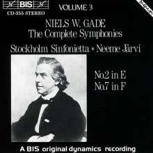 Niels Wilhelm Gade (1817-1890): Symphonien Nr.2 & 7, CD