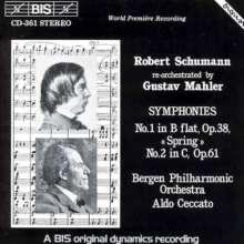 Robert Schumann (1810-1856): Symphonien Nr.1 & 2 (Orch.G.Mahler), CD