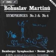 Bohuslav Martinu (1890-1959): Symphonien Nr.3 & 4, CD