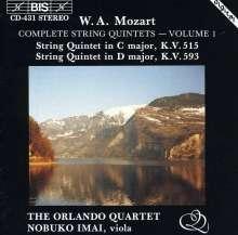 Wolfgang Amadeus Mozart (1756-1791): Streichquintette Nr.3 & 5, CD