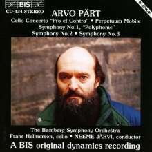 Arvo Pärt (geb. 1935): Symphonien Nr.1-3, CD