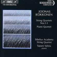 Joonas Kokkonen (1921-1996): Streichquartette Nr.1-3, CD