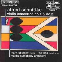 Alfred Schnittke (1934-1998): Violinkonzerte Nr.1 & 2, CD