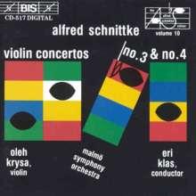 Alfred Schnittke (1934-1998): Violinkonzerte Nr.3 & 4, CD