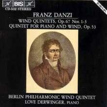 Franz Danzi (1763-1826): Bläserquintette op.67 Nr.1-3, CD
