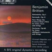 Benjamin Britten (1913-1976): Nocturne für Tenor & Kammerorchester op.60, CD