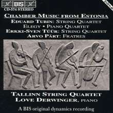 Eduard Tubin (1905-1982): Streichquartett, CD