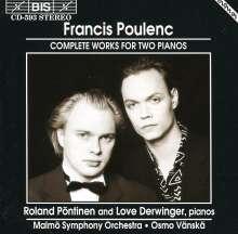 Francis Poulenc (1899-1963): Konzert für 2 Klaviere & Orchester, CD