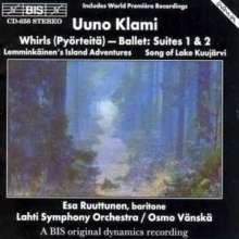 Uuno Klami (1900-1961): Wirbel-Ballettsuiten Nr.1 & 2, CD