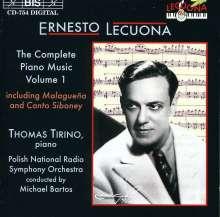 Ernesto Lecuona (1895-1963): Sämtliche Klavierwerke Vol.1, CD