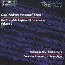 Carl Philipp Emanuel Bach (1714-1788): Sämtliche Cembalokonzerte Vol.3, CD