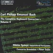 Carl Philipp Emanuel Bach (1714-1788): Sämtliche Cembalokonzerte Vol.4, CD