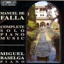 Manuel de Falla (1876-1946): Sämtliche Klavierwerke, CD