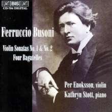 Ferruccio Busoni (1866-1924): Sonaten für Violine & Klavier Nr.1 & 2, CD