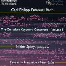 Carl Philipp Emanuel Bach (1714-1788): Sämtliche Cembalokonzerte Vol.5, CD