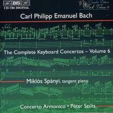 Carl Philipp Emanuel Bach (1714-1788): Sämtliche Cembalokonzerte Vol.6, CD