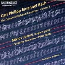 Carl Philipp Emanuel Bach (1714-1788): Sämtliche Cembalokonzerte Vol.7, CD