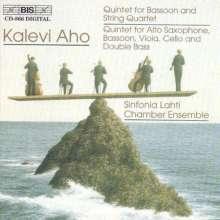 Kalevi Aho (geb. 1949): Fagottquintett, CD