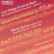 Carl Philipp Emanuel Bach (1714-1788): Sämtliche Cembalokonzerte Vol.8, CD