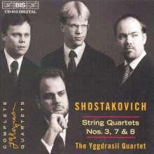 Dimitri Schostakowitsch (1906-1975): Streichquartette Nr.3,7,8, CD