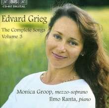 Edvard Grieg (1843-1907): Sämtliche Lieder Vol.3, CD