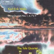 Karl-Erik Welin (1934-1992): Streichquartette Nr.1,6,7,9, CD