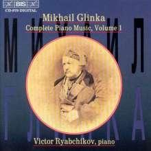 Michael Glinka (1804-1857): Sämtliche Klavierwerke Vol.1, CD