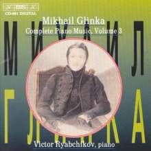 Michael Glinka (1804-1857): Sämtliche Klavierwerke Vol.3, CD