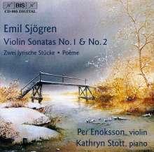 Emil Sjögren (1853-1918): Violinsonaten Nr.1 & 2, CD
