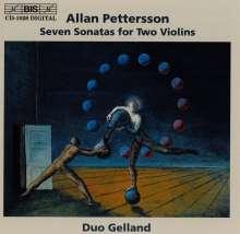 Allan Pettersson (1911-1980): Sonaten für 2 Violinen Nr. 1-7, CD