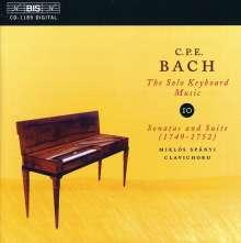 Carl Philipp Emanuel Bach (1714-1788): Cembalosonaten Wq.62 Nr.9 & 13, CD
