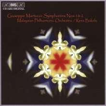 Giuseppe Martucci (1856-1909): Symphonien Nr.1 & 2, CD
