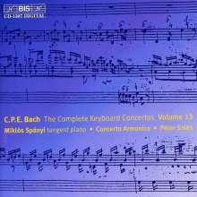 Carl Philipp Emanuel Bach (1714-1788): Sämtliche Cembalokonzerte Vol.13, CD