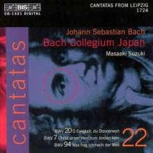 Johann Sebastian Bach (1685-1750): Kantaten Vol.22 (BIS-Edition), CD