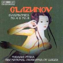Alexander Glasunow (1865-1936): Symphonien Nr.4 & 8, CD