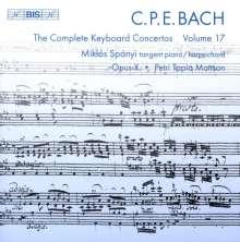 Carl Philipp Emanuel Bach (1714-1788): Sämtliche Cembalokonzerte Vol.17, CD