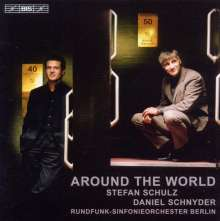 Daniel Schnyder (geb. 1961): Around the World für Sopransaxophon,Bassposaune & Klavier, CD