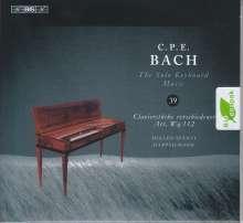 """Carl Philipp Emanuel Bach (1714-1788): Klavierwerke """"Clavierstücke verschiedener Art Wq.112"""", CD"""