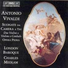 Antonio Vivaldi (1678-1741): Sonaten für 2 Violinen & Bc op.1 Nr.1-12, 2 CDs