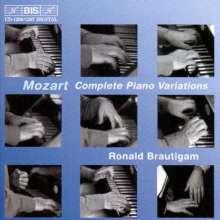 Wolfgang Amadeus Mozart (1756-1791): Variationen für Klavier solo (Ges.-Aufn.), 4 CDs