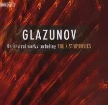 Alexander Glasunow (1865-1936): Symphonien Nr.1-8, 5 CDs
